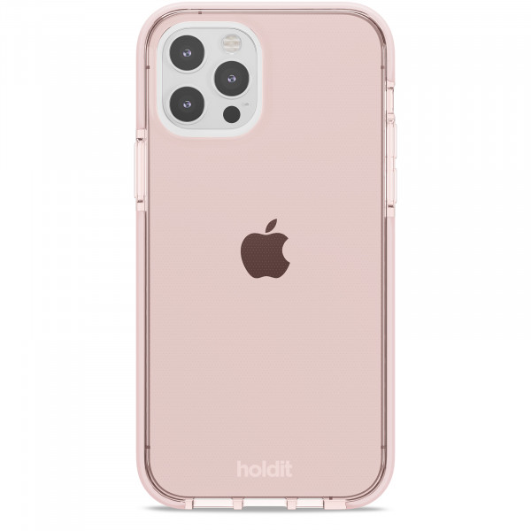 Silicone Seethru Case iPhone 12 / 12 Pro pink color-  15043
