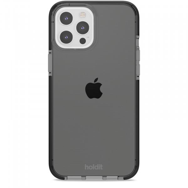 Silicone Seethru Case iPhone 12 Pro Max  black color-  15078