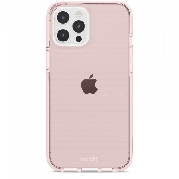 Silicone Seethru Case iPhone 12 Pro Max  pink color-  15080