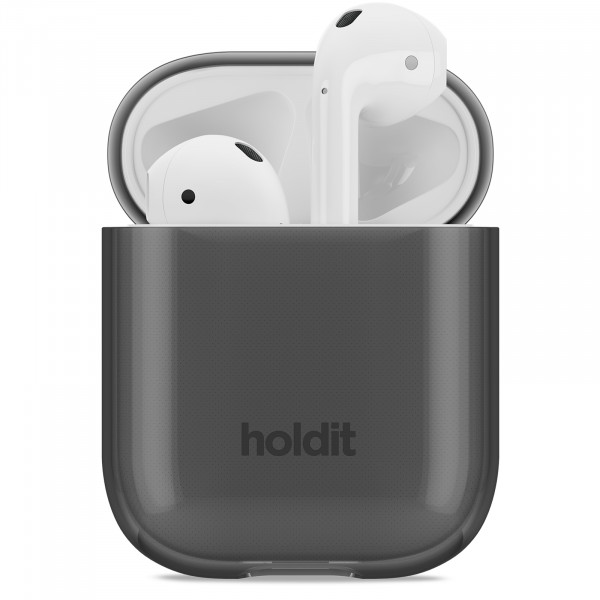 Holdit Silicone Seethru  Case AirPods- Black 15083