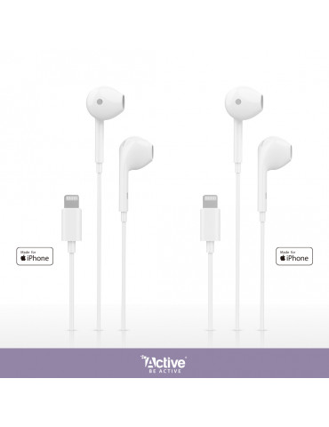2x iPhone wired headphones certified by Apple
