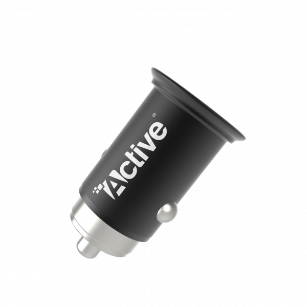 Car Charger - Active Go Metal - Black