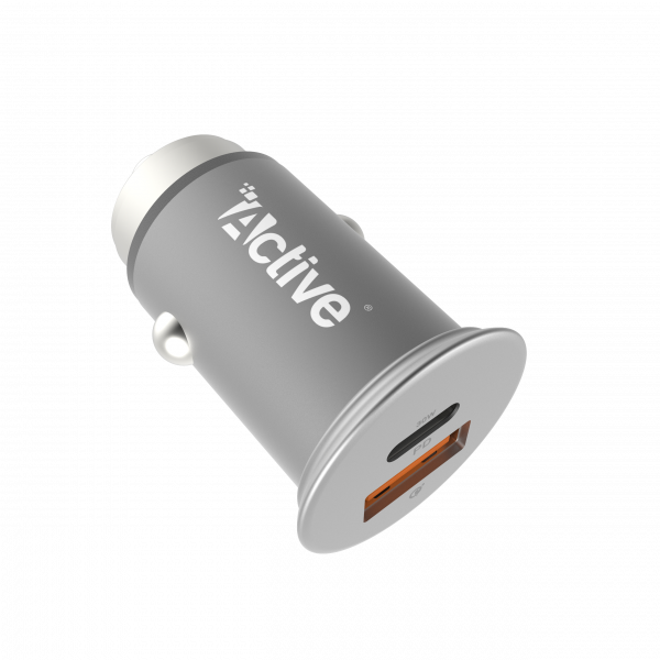 Car Charger - Active Go Metal - Silver
