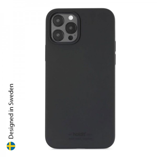 Silicone Case iPhone 12/12 Pro - Black