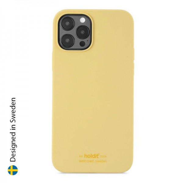 Silicone Case iPhone 12/12 Pro - Yellow