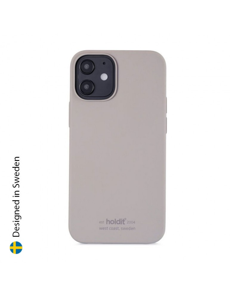 Silicone Case iPhone 12 Mini Taupe