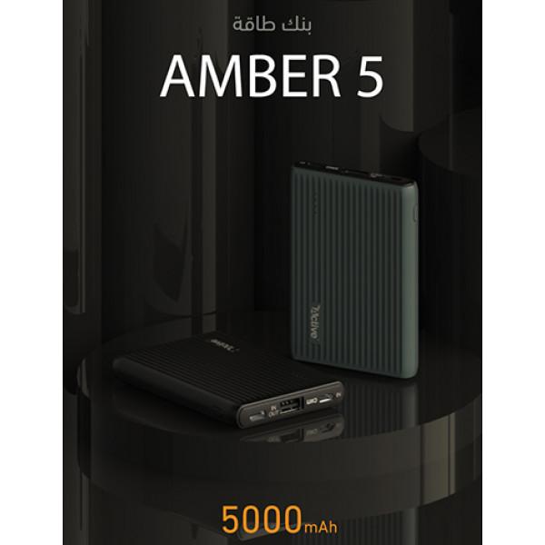 Power bank amber 5000 mAh Black