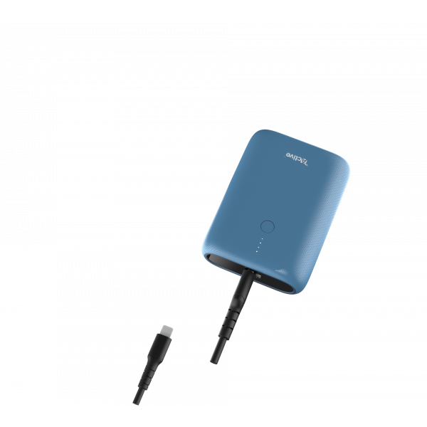 Active Titan compact Power Bank -10,000 mAh - pacific blue